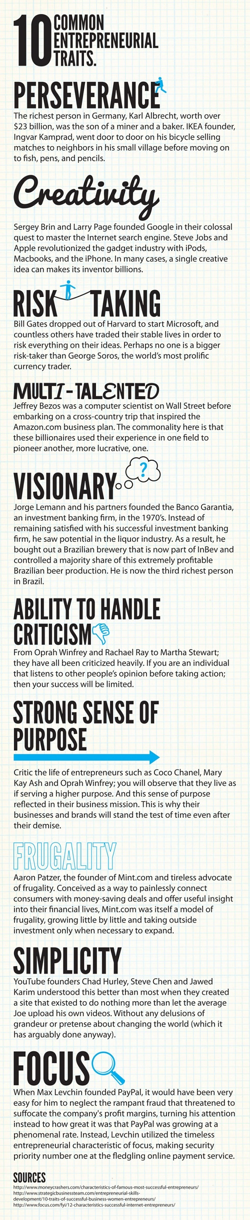 10 Personality Traits of Mega-Successful Entrepreneurs [Infographic